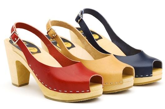 Swedish Hasbeens, sandalias y peep toes zueco, zapatos originales de mujer para verano