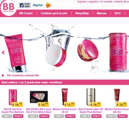 BB Cream, cosmética, cremas BB, venta online de marcas internacionales en BBcreamshop.es