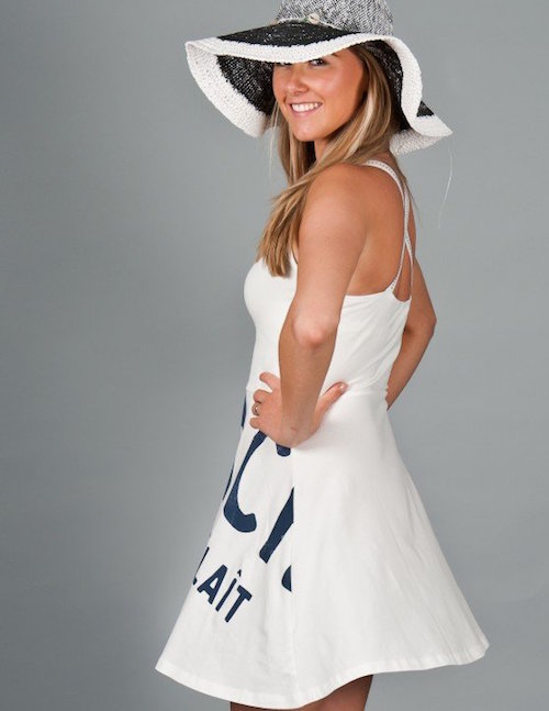 ropa playera vestido blanco