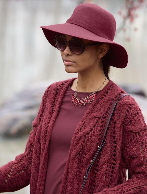 Ropa color burdeos de moda este otoño-invierno
