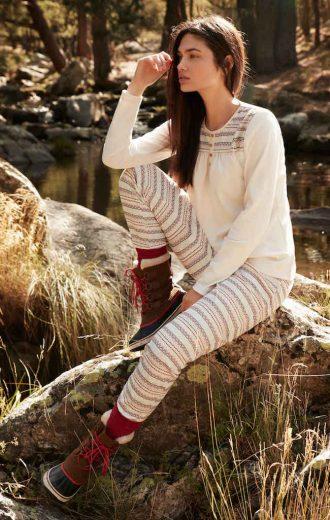 Mi conjunto favorito de toda la colección, este pijama en tonos crudos, me parece muy fino y abrigado.