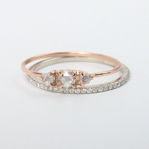 Plain Solitaire With Diamond Wedding Band