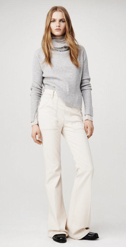 frame-denim falda