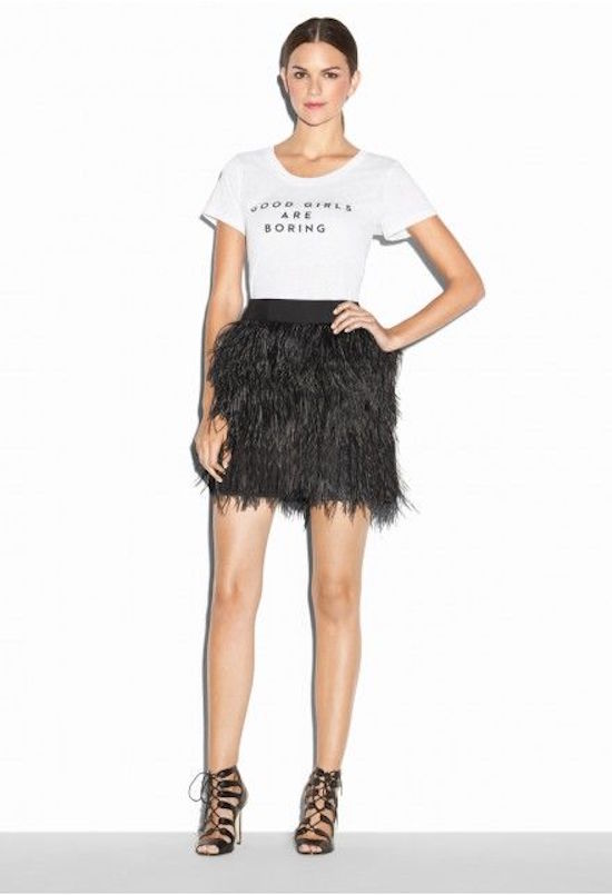 milly casual feather skirt