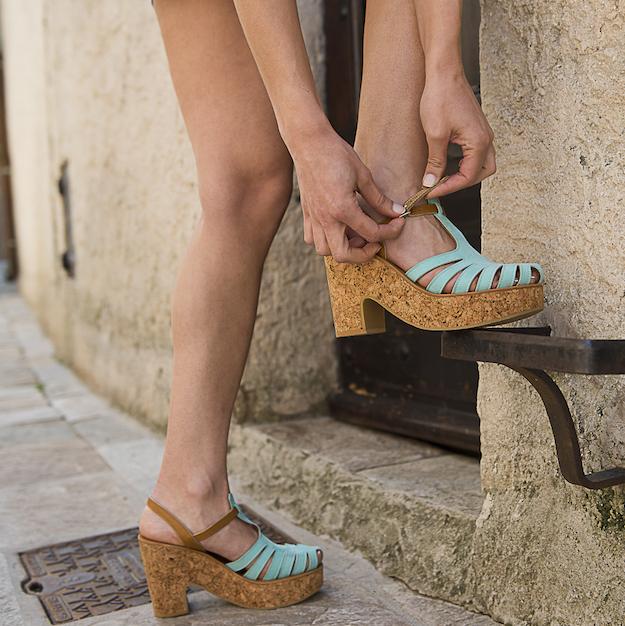 KJacques sandalias tacon