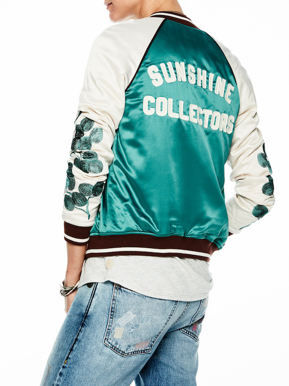 bomber jacket shiny