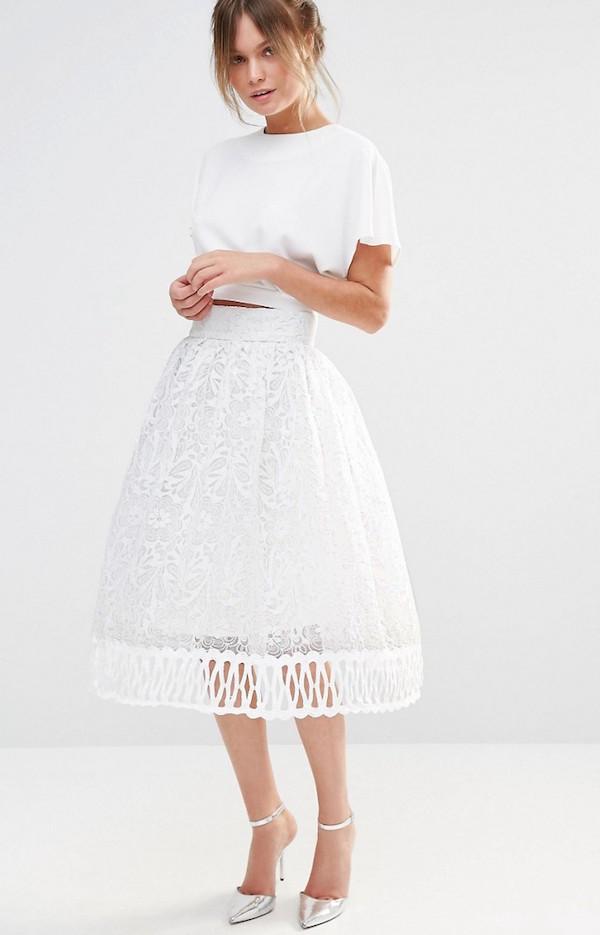 falda lace encaje boda